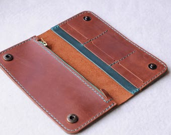 Leather wallet, Leather purse, Leather thin wallet, Men slim wallet, Long women wallet, Gift for him, Gift for her, Purse leather, Wallet