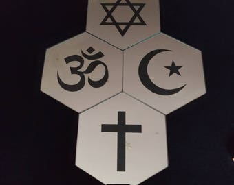 Set of four different religions
