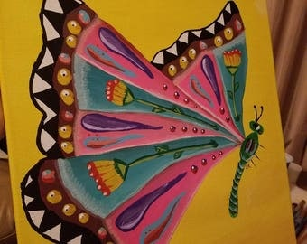 Whimsical Butterfly (custom colors can be ordered)