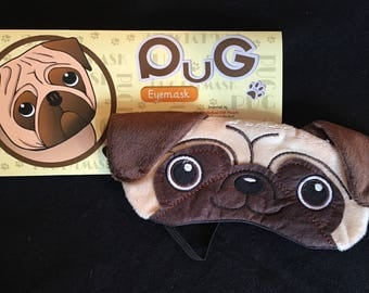 Pug sleep mask
