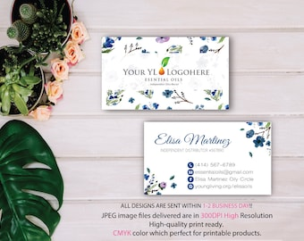 YL Business Card, Custom Essential Oils Card, Fast Free Personalization, Essential Oil Business Card, Printable Business Card