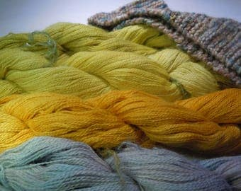 Baby Lace Alpaca Hand dyed. Choose one of the 4 in the photo.