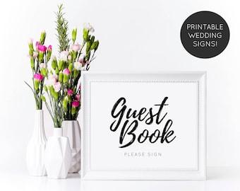 Guest Book Wedding Sign, Guest Book Sign, Guestbook Sign, Wedding Sign, Guestbook Table Sign, Wedding Decor, Printable Wedding Sign