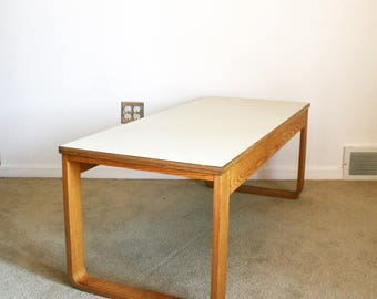 Vintage Mid Century Bent Wood Aalto Style Coffee Table