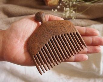 Merbau Wooden Comb - Mermaid's Tail grip
