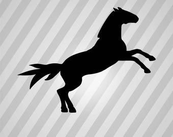 Horse Silhouette - Svg Dxf Eps Silhouette Rld Rdworks Pdf Png Ai Files Digital Cut Vector File Svg File Cricut Laser Cut