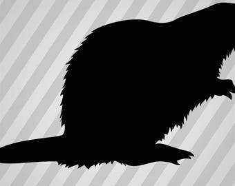 beaver Silhouette - Svg Dxf Eps Silhouette Rld RDWorks Pdf Png AI Files Digital Cut Vector File Svg File Cricut Laser Cut