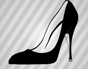 High Heels Silhouette -  Svg Dxf Eps Rld Rdworks Pdf Png Ai Files Digital Cut Vector File Svg File Cricut Laser Cut