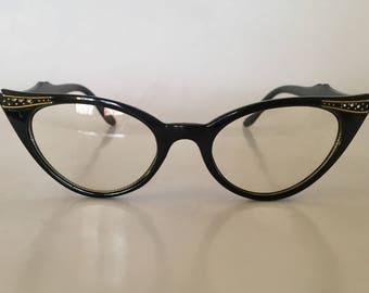 Clear Lens Cat Eye Glasses