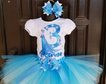 Inspired by frozen Elsa birthday tutu ice queen tutu