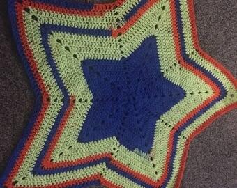 Thick crochet star