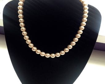 Elegant Dark Cream Pearl Necklace