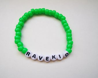 Ravekid Kandi Bracelet Green
