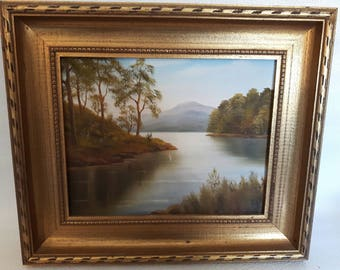 T. Jahner oil on board painting, original, signed 1978
