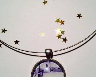 """Cable Choker """"Music"""" 25 mm pendant necklace"""