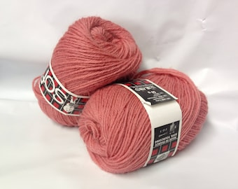 Knitting / 10 balls pure wool / rose / made in FRANCE
