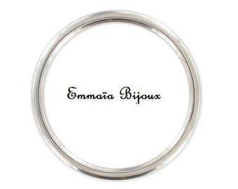 8 rings in silver metal 24 mm
