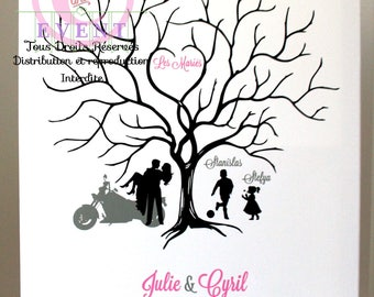 Custom fingerprint wedding tree
