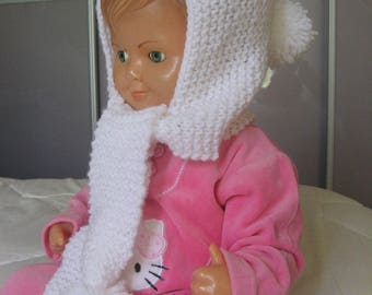 Pretty little bonnet Hood (girl or boy)