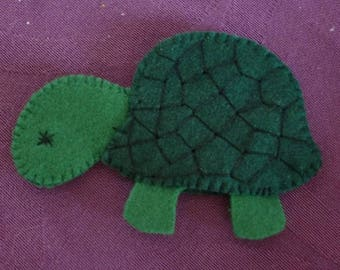 felt animal Carolina turtle finger puppet