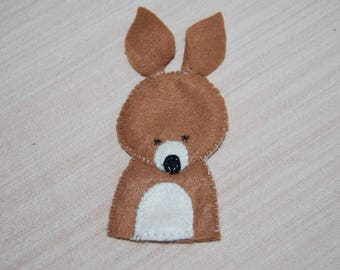 felt finger puppet animals deer