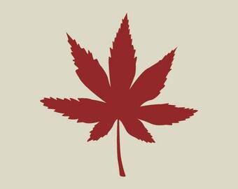 Maple leaf. (Ref 132) adhesive vinyl stencil