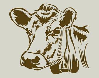 Cow. Cow's head. Stencil adhesive vinyl (ref 143)