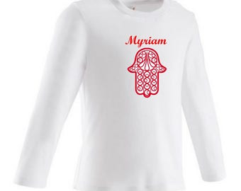 Hamsa baby personalized with name t-shirt