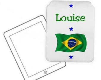 Cover for tablet pc Brazil personalized with name