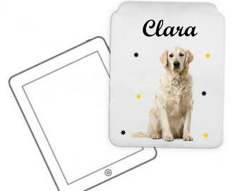 Cover for tablet pc Golde retrievers personalized with name