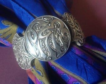 Antique sterling silver, stamped bracelet