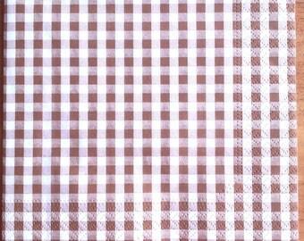 Brown gingham paper towel