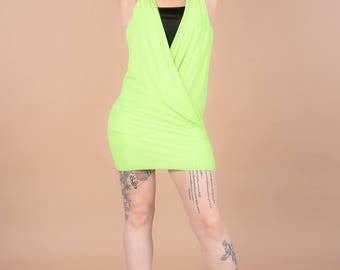 dress / tunic open front neon