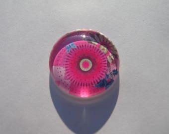 Cabochon en 25 mm avec son image multicolore