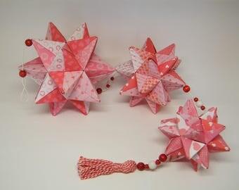 """Mobile origami stars """"love"""""""
