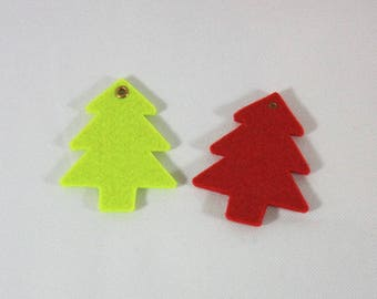 Embellishments/applique/subjects felt Christmas tree red and green