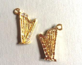 harp gold + rhinestones