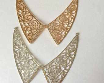 alloy rhinestone collar in Platinum
