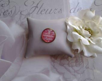 Funny nurse pin badge
