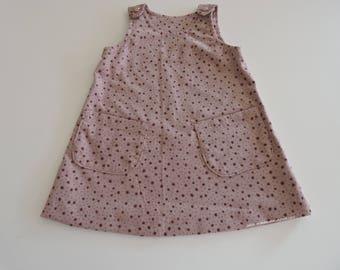 Little pinafore dress patch pockets