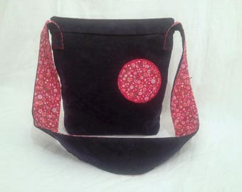 Shoulder bag denim and Red Liberty patterns