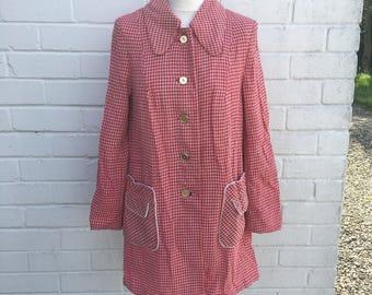 Vintage red dogtooth jacket