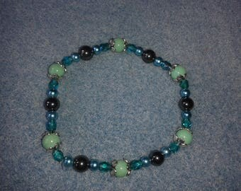 Turquoise and green Bohemian bracelet
