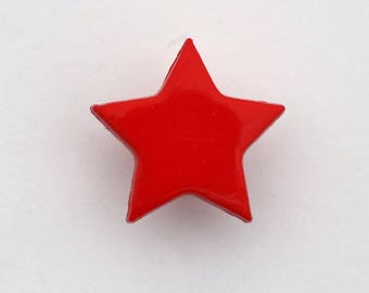 Set of 6 x 14mm - 001658 star buttons