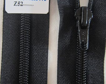 Black 65 cm separable zipper closure