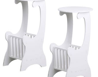 Set of 2 Simple, Elegant Telephone Tables - Side End Tables