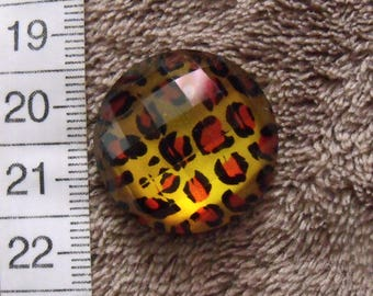 1 cabochon resin 25mm spotted animal