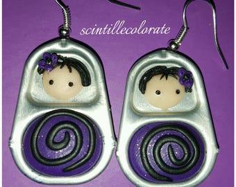 Matrioska handmade earrings