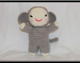 Roudoudou the little monkey. Crochet blanket.