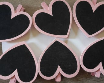 Pink slate hearts brand place hanging pictures